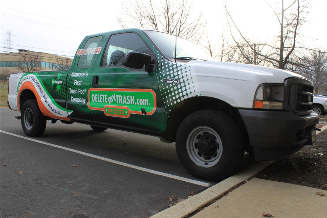Ford F250 Partial Graphics - Ford F250 Partial Graphics for trash company