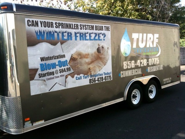 Partial Enclosed Trailer Wrap - Partial Enclosed Trailer Wrap for lawn service