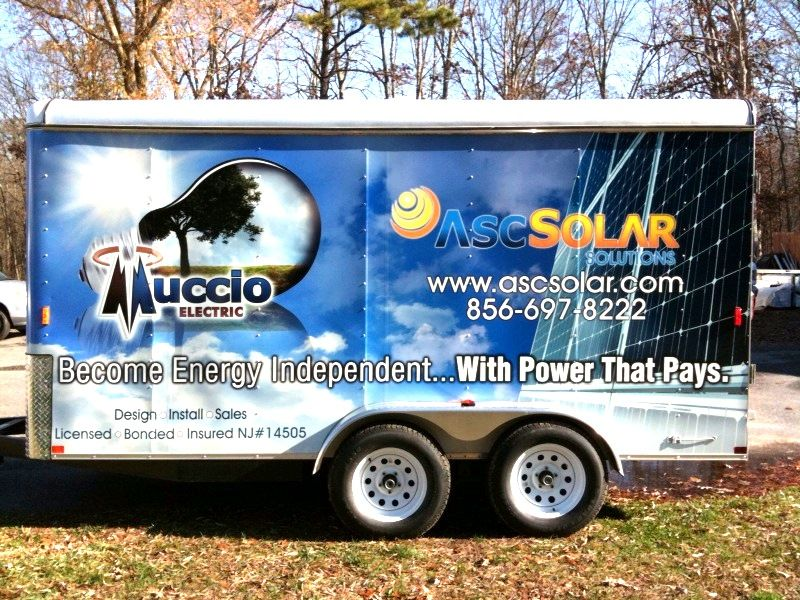 Full Trailer Wrap - Full Trailer Wrap for solar power company