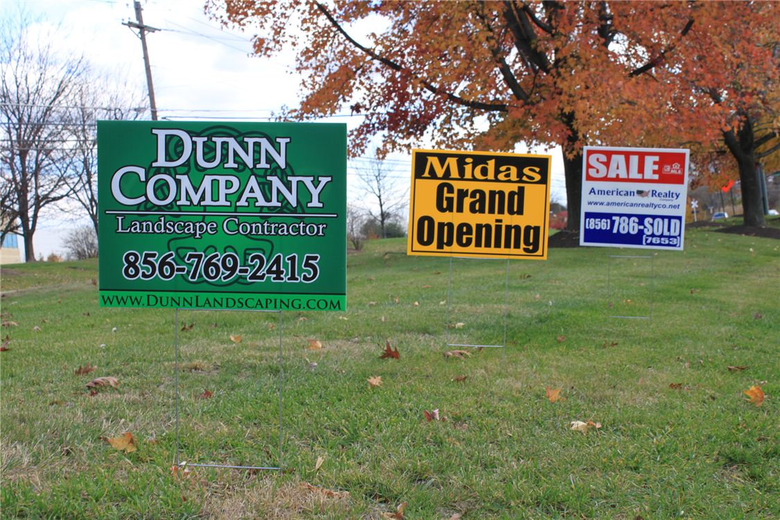 lawn signs - lawn signs for various businesses