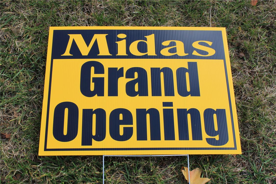 lawn sign - lawn sign for grand opening