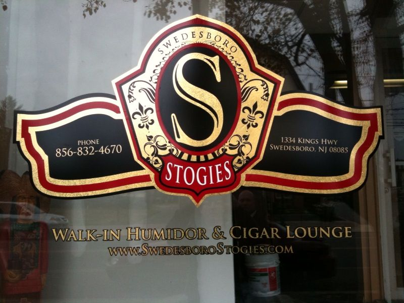 Window Graphics Logo - Window Graphics Logo for cigar store