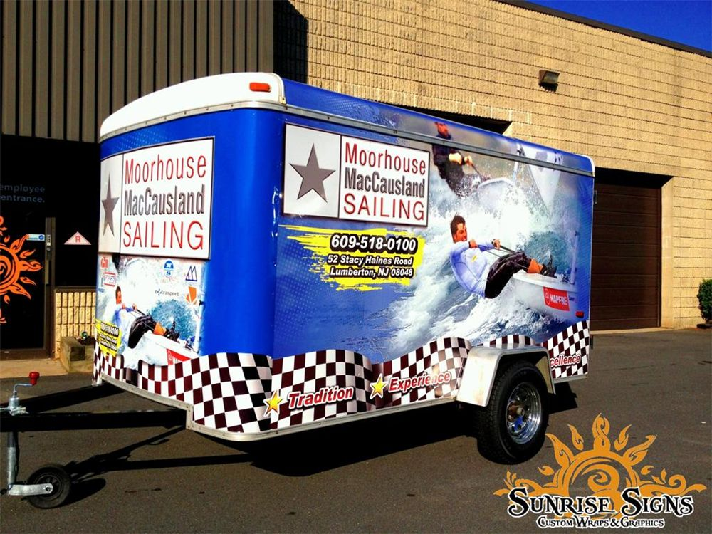 Sailing boating trailer wraps