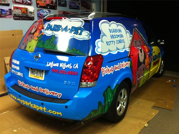Nissan Pathfinder Wrap - Full Nissan Pathfinder Wrap for pet care service