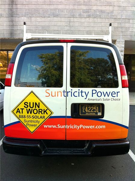 Chevy Express Van Graphics - Chevy Express Van Graphics for solar power company