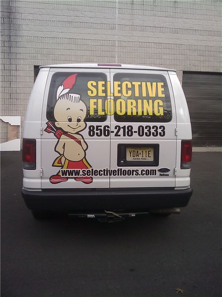 E350 Van Graphics - Van Graphics for Flooring Company