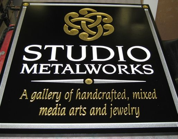 Routed Wall Sign - Routed Wall Sign for metal studio