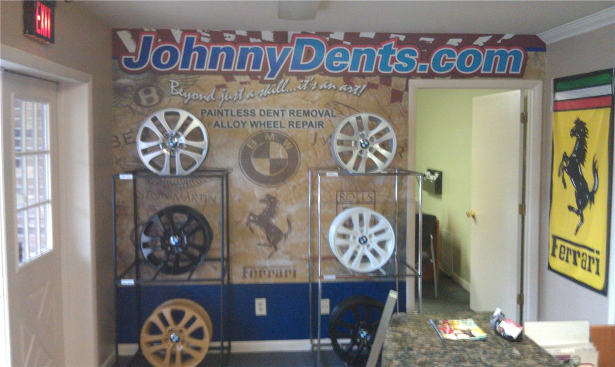 Custom Wall Wrap - Custom Wall Wrap for auto body shop