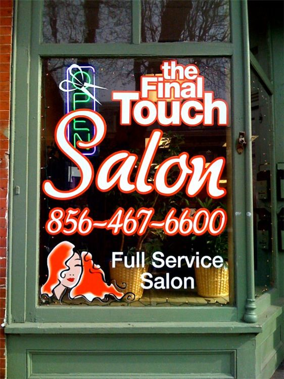 Window Graphics - Window Graphics for salon