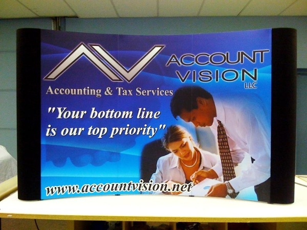 Table Top Trade Show Display - Table Top Trade Show Display for accounting service