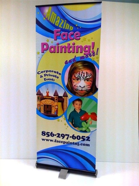 Retractable Banner Stand - Retractable Banner Stand for face painting company