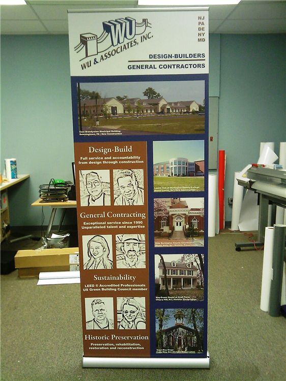 Retractable Banner Stand - Retractable Banner Stand for construction and design firm