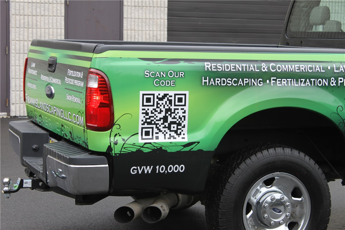 Ford Truck Full Wrap with QR code - Ford Truck Full Wrap with QR code for landscaper