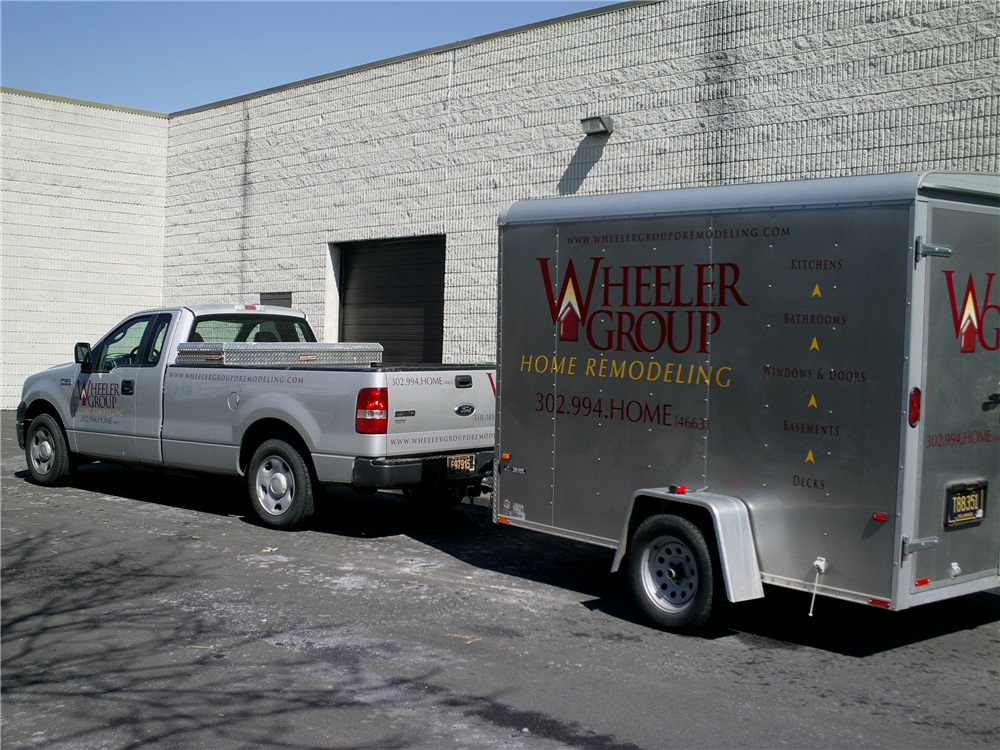 F250 Truck and Trailer Lettering - F250 Truck and Trailer Lettering for home remodeling company