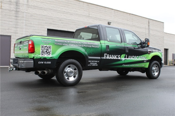 Ford Truck Full Wrap with QR code