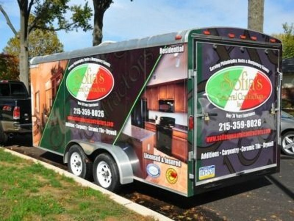 Full Enclosed Trailer Wrap - Full Enclosed Trailer Wrap for general contractor