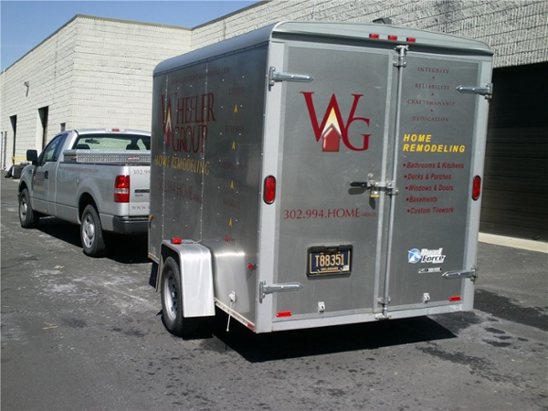 Truck and Trailer Lettering - Truck and Trailer Lettering for contractor
