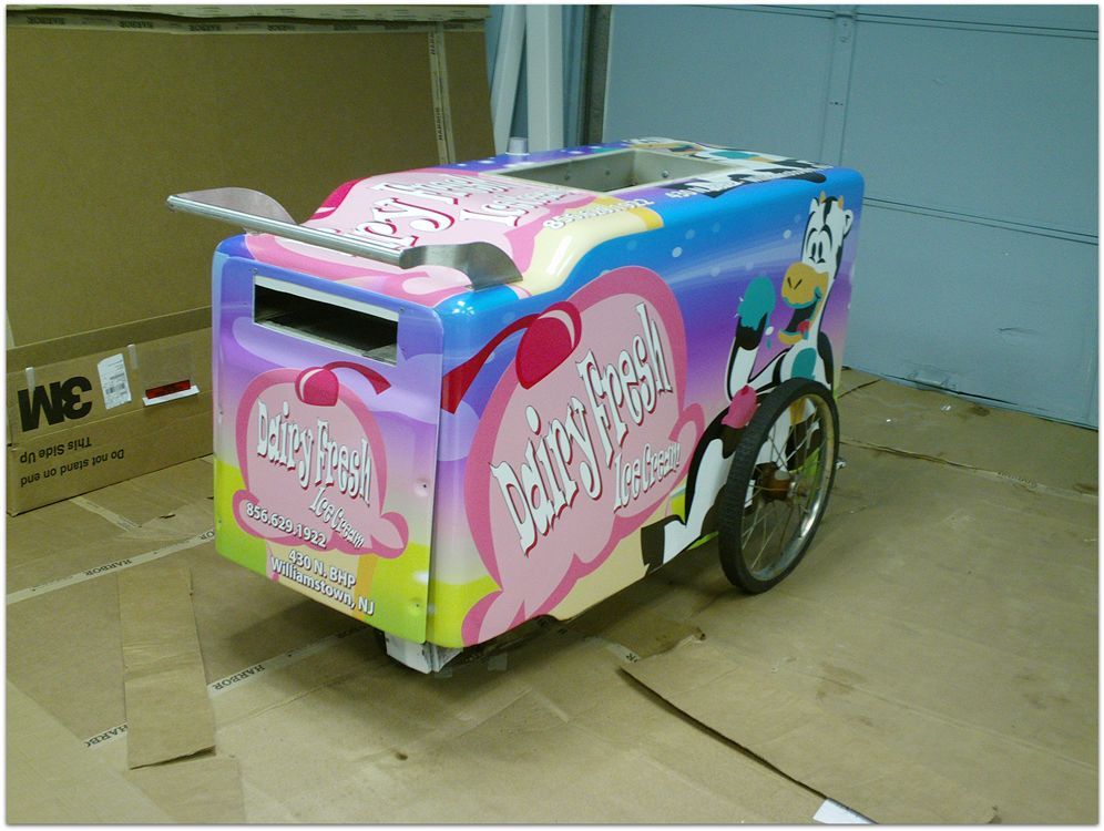 Ice Cream Cart Wrap - Ice Cream Cart Wrap for Dairy Fresh