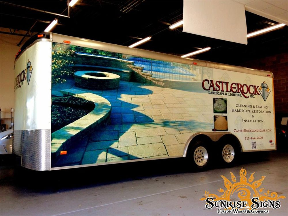 Landscaping Hardscaping Trailer Wraps