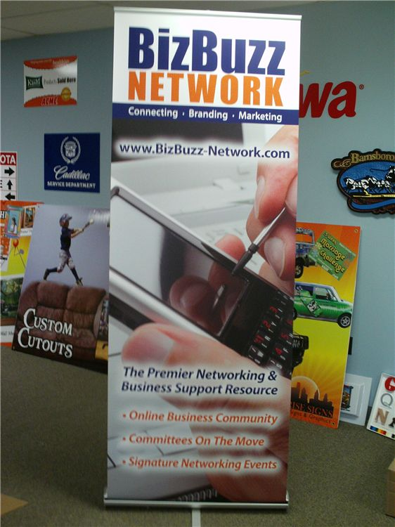 Pop Up Banner Stand - Pop Up Banner Stand for networking event