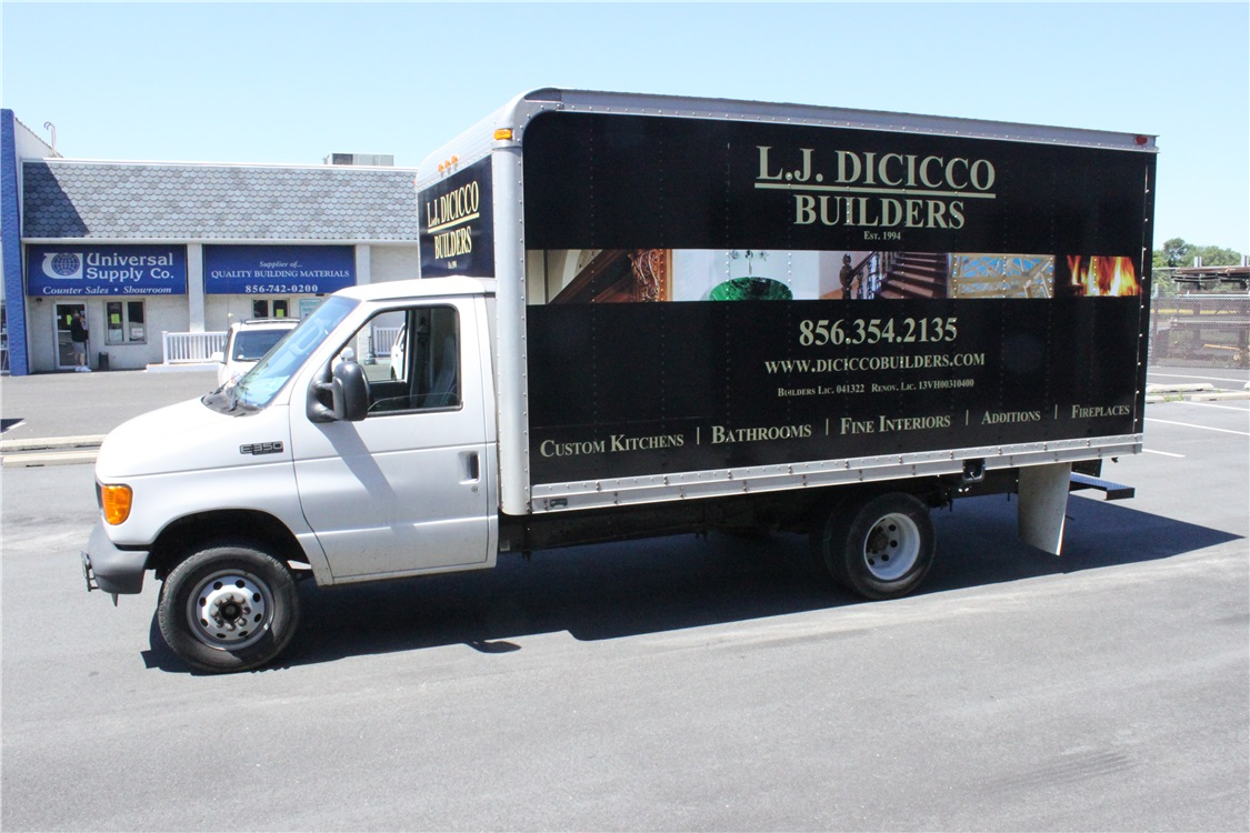 Box Truck Graphics - Box Truck Graphics for building company