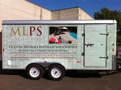 Full Trailer Wrap - Full Trailer Wrap for hardscaping company
