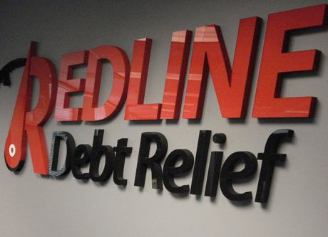 Acrylic Logo and Letters - Acrylic Logo and Letters for debt relief company