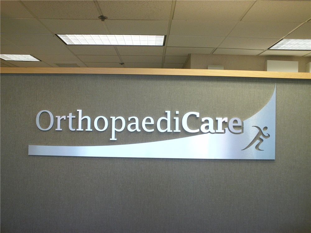 Cut Metal Logo Sign - Cut Metal Logo Sign for medical office