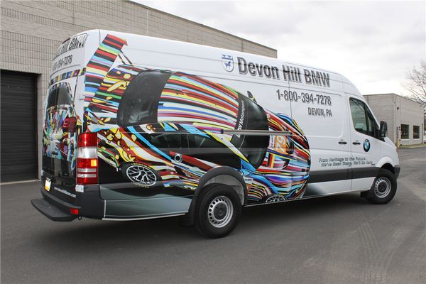 Ford Transit Partial Graphics - Partial Ford Transit Graphics for BMW dealership