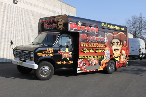 Mini Bus Wrap - Full Mini Bus Wrap for steakhouse and saloon