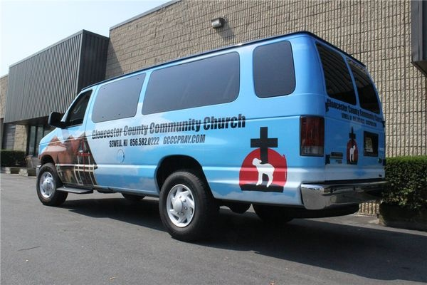 E350 Full Van Wrap - Extended Full E350 Full Van Wrap for a church