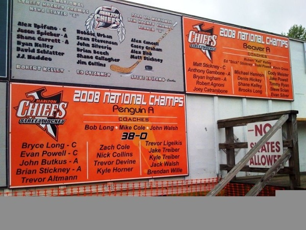 Sponsor Signs - Sponsor Signs for local hockey league