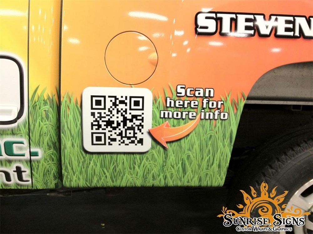 qr code on vehicle wraps