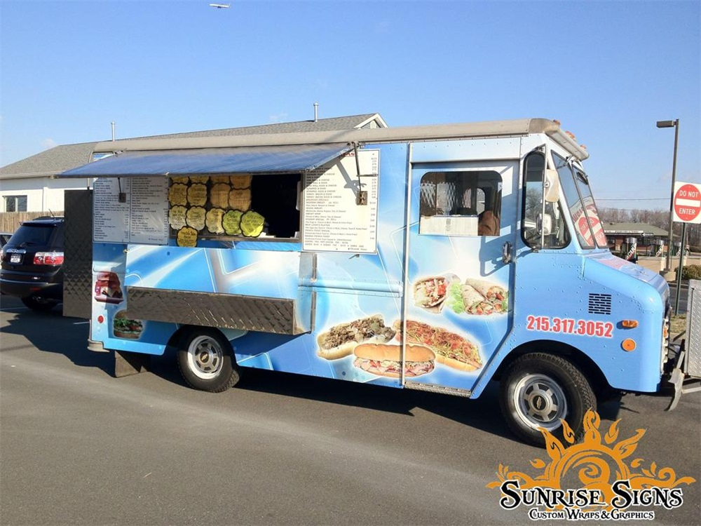 Cheesesteak Food Truck Wrap
