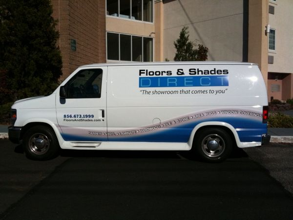E350 Van Graphics: Van Graphics for Floor and Shade Company