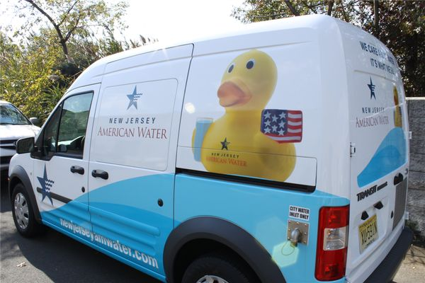 Ford Transit Graphics - Partial Ford Transit Graphics for water company