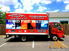 Contractor fleet wraps for box trucks