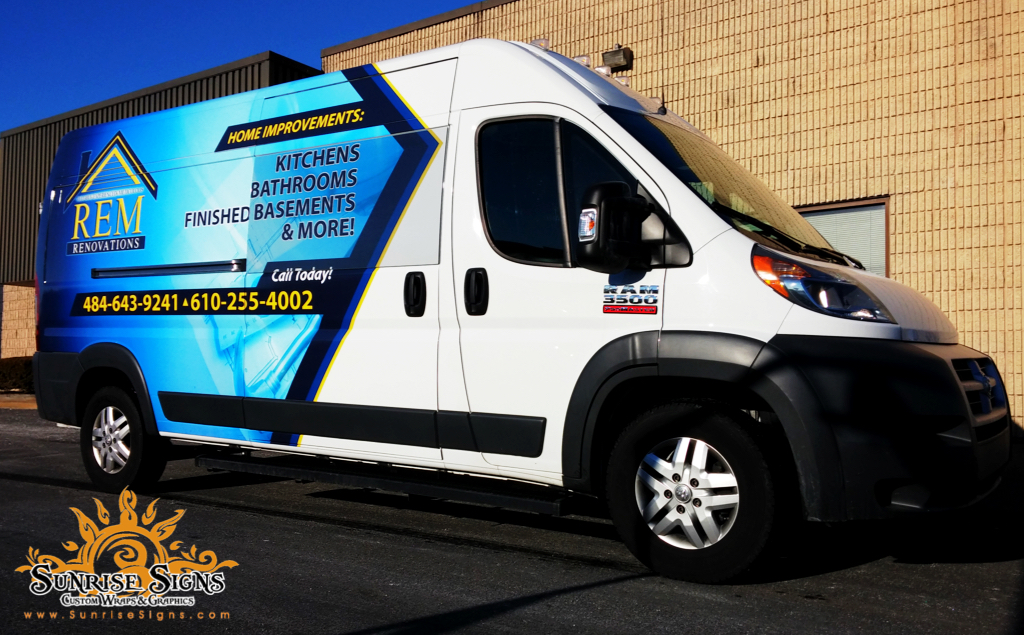 Partial van wraps Chester County PA