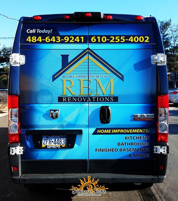 Contractor RAM ProMaster Vehicle Graphics PA