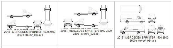 Vehicle Wrap Templates for the Mercedes Sprinter Cargo Van