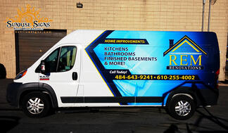 RAM Promaster partial van wraps for contractors