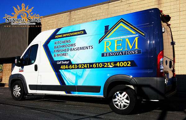RAM ProMaster Van Wraps for Contractors Southeastern PA
