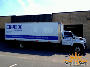 OPEX Industrial Box Truck Wraps