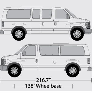 vehicle wrap templates for the ford econoline e series van. Black Bedroom Furniture Sets. Home Design Ideas