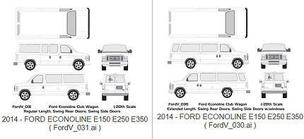 Vehicle Wrap Templates Ford Econoline Vans