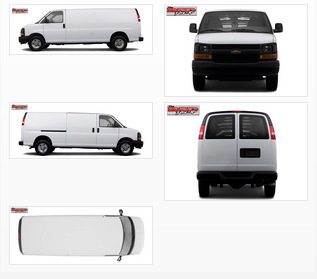 Vehicle Wrap Templates For The Chevy Express Van - Car wrap templates
