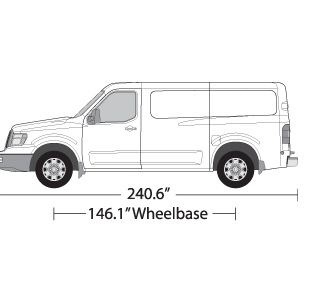 Vehicle Wrap Templates for the Nissan NV1500/2500/3500