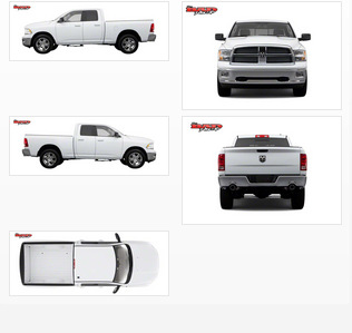 Dodge ram 1500 vehicle wrap templates for Truck wrap templates