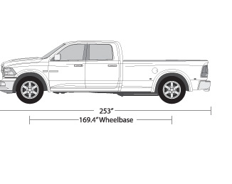 vehicle wrap templates for the dodge ram 2500 pickup truck