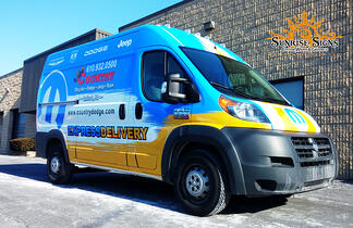 Auto Dealership Parts Service Van Graphics Ideas